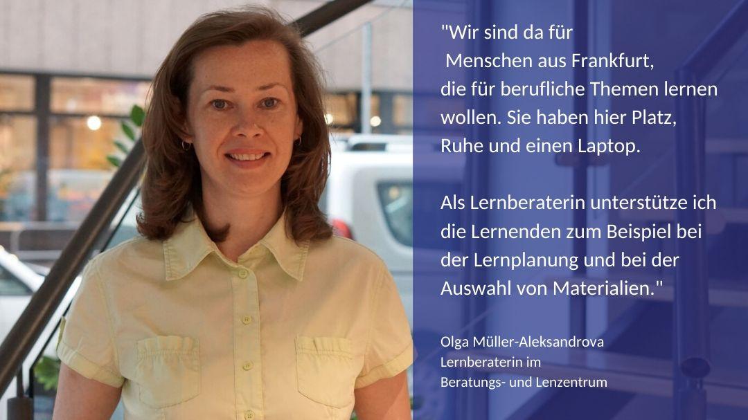 Unsere Lernberaterin Frau Müller-Aleksandrova